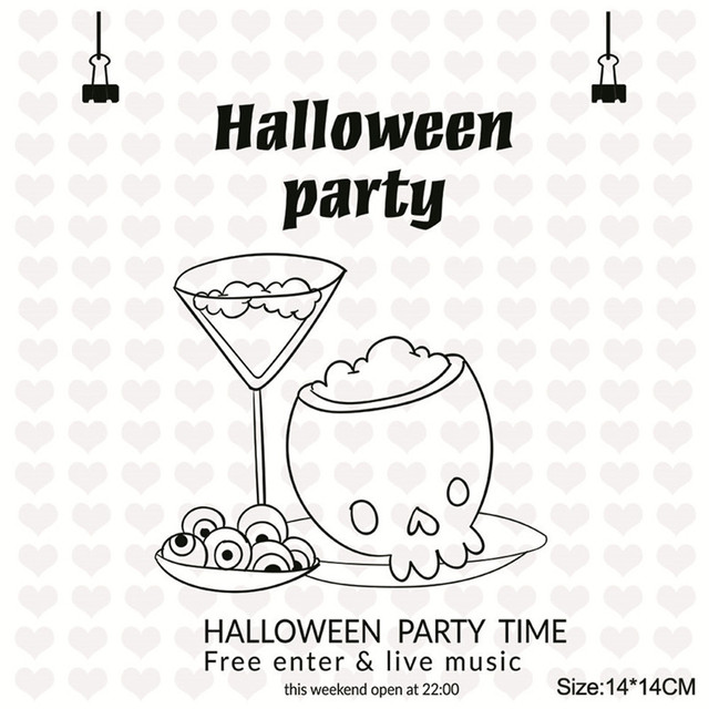 Aliexpress Buy Julyarts 6 Styles Halloween Stamps Rubber Clear