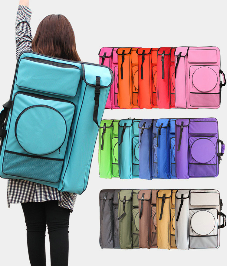 цена на Solid Colors Fashion Art Bag School Art Supplies 4K Large Sketch Painting Board Bag Waterproof Drawing Bag For Artist