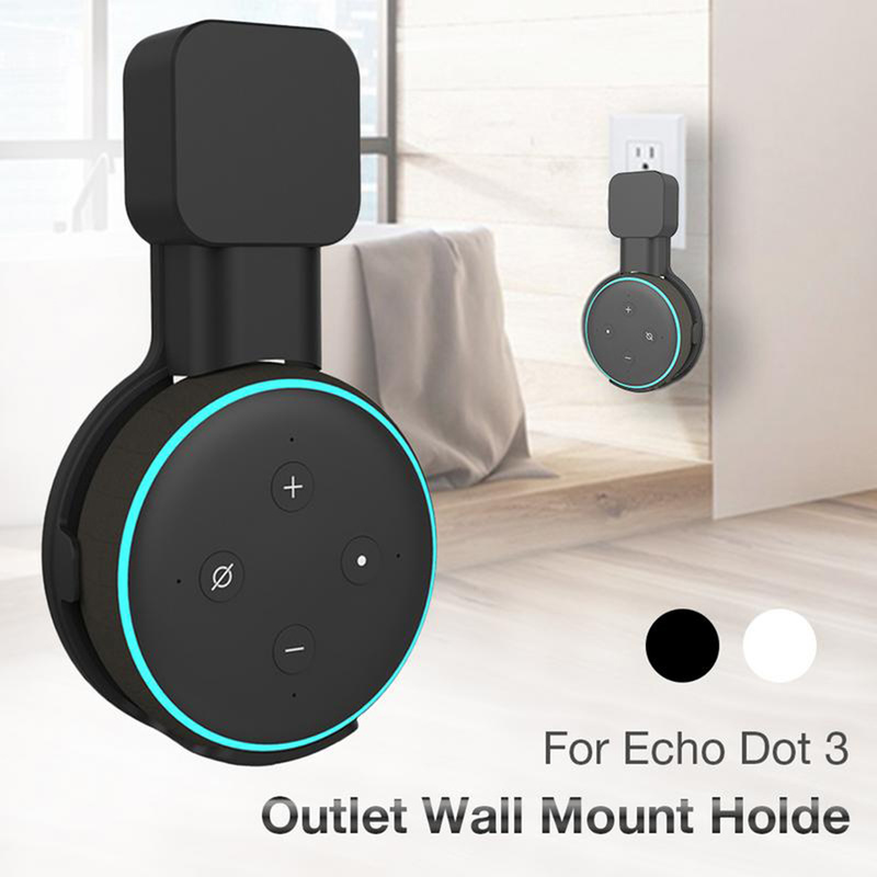 Outlet Wall Mount Hanger Holder Bracket For Amazon Alexa Echo Dot Speaker 3rd Generation And Other Round Voice Assistants Stand