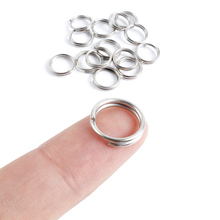Topline Tackle 50pcsStainless Steel Split Rings Fishing Ring For Lures Solid Lure Connecting Accessories
