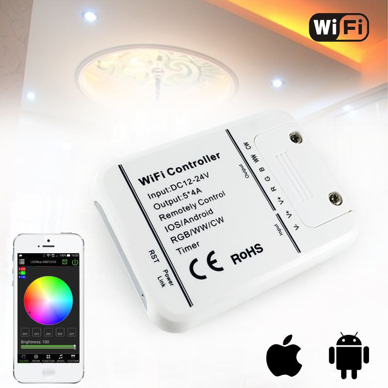 ⊰DC12v 24 В 12A Wi-Fi <b>RGB</b>/RGBW/цветовой температуры ...