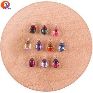 Image 1 - Cordial Design 50 sztuk 7*13MM biżuteria akcesoria/Hand Made/DIY Making/upuść kształt/Charms biżuteria/kryształ wisiorek/kolczyki ustalenia