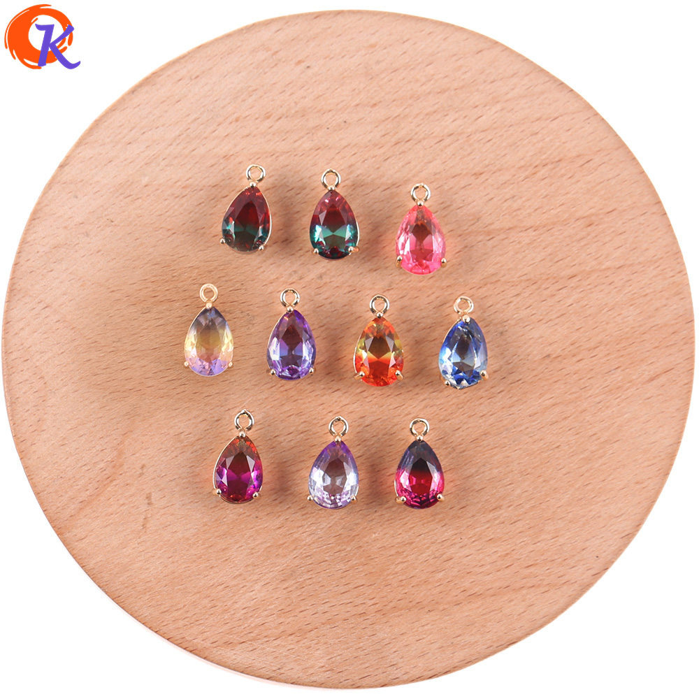Crystal-Pendant/earring-Findings Drop-Shape/charms Cordial-Design 50pcs 7--13mm