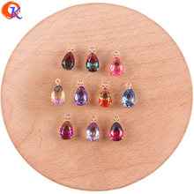Cordial Design 50Pcs 7*13MM Jewelry Accessories/Hand Made/DIY Making/Drop Shape/Charms Jewelry/Crystal Pendant/Earring Findings