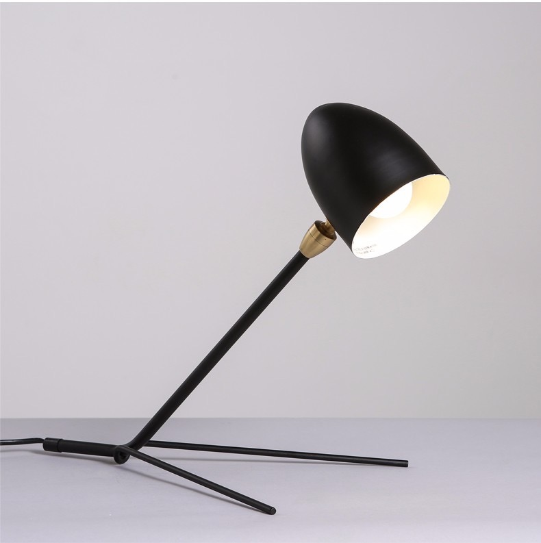 Fashion Brief Bedside Table Lamp Nordic loft desk lamp black color lampshade Lovely kids reading lamp abajur para quarto купить