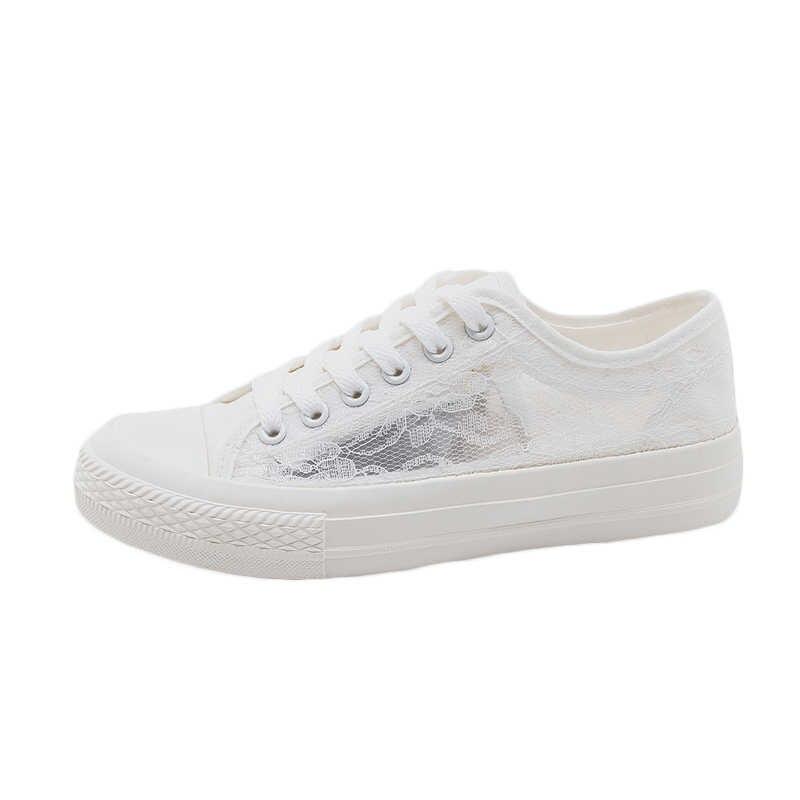 2019 Yeni Yaz Kızlar beyaz ayakkabı Tatlı Dantel Kadın Moda Ayakkabı Hava geçirgen Mesh Kadınlar Pembe Spor Ayakkabı rahat ayakkabılar Nane Yeşil