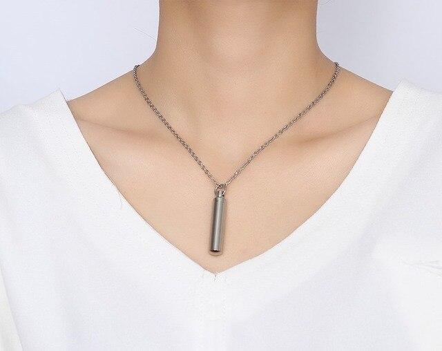 Модные парные ожерелья с флаконом духов 2 размера для женщин