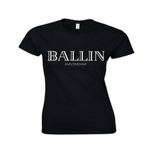 Новинка 2017 Летняя женская одежда с круглым вырезом Ballin Амстердам Графический Футболка унисекс принт женские короткий рукав Футболка крутая футболка