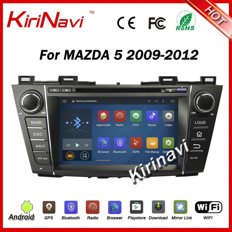 KiriNavi Android 5.1.1 car multimedia system for mazda 5 2010-2015 car radio android dvd player with gps navigation stereo