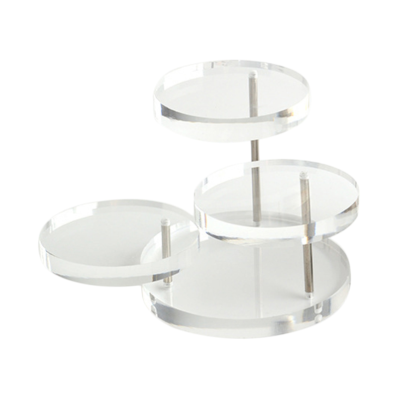 New Jewelry Organizer Jewelry Display Stand Clear 3 Tray Acrylic Earring Bracelet Necklace Display Stand Shelf  KQS8