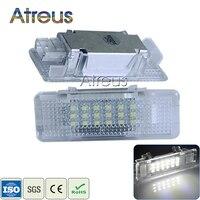 2Pcs Car LED Door Welcome Light 12V White SMD3528 LED Courtesy Lamp Bulb Kit For BMW