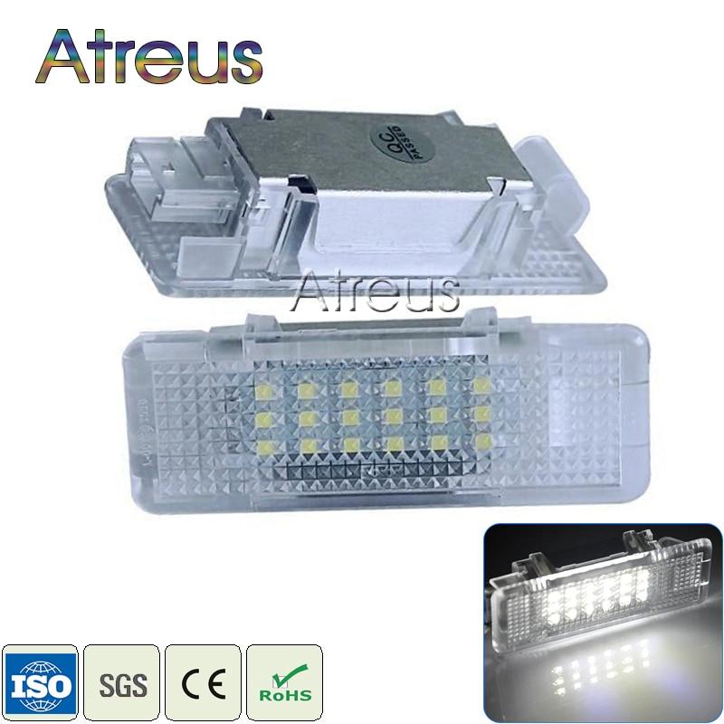 Atreus Car Door Welcome Lights 12V For BMW E53 X5 E39 Z8 E52 Accessories No error 1Pair White SMD3528 LED Courtesy Lamp Bulb Kit