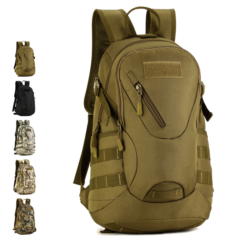 HS RHYME Waterproof 3D Military Tactics Backpack Rucksack Bag 20L for Hike Trek Camouflage Travel Backpack X67 2016 military tactics backpack men travel bags camouflage waterproof crossbody shoulder bag pack army bag bolso mochila l60