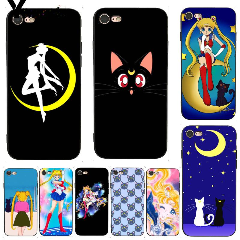 Half-wrapped Case Cellphones & Telecommunications Liberal Yinuoda For Iphone 7 6 X Case Sailor Moon Luna Ca Luxury Coque Shell Phone Case For Iphone X 6 7 6s 7plus 8 8plus 5 Xs Xr Street Price