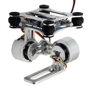 Image 3 - アルミ 2 軸ブラシレスジンバルカメラマウントcontrollプラグ 3/4/5/6/7/8 カメラdjiファントムトレックス 500/550 ドローン
