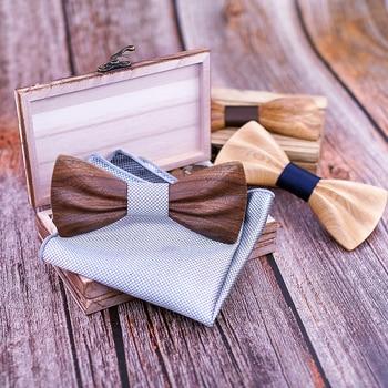 Boy's Fashion Wooden Bow Tie Set 4