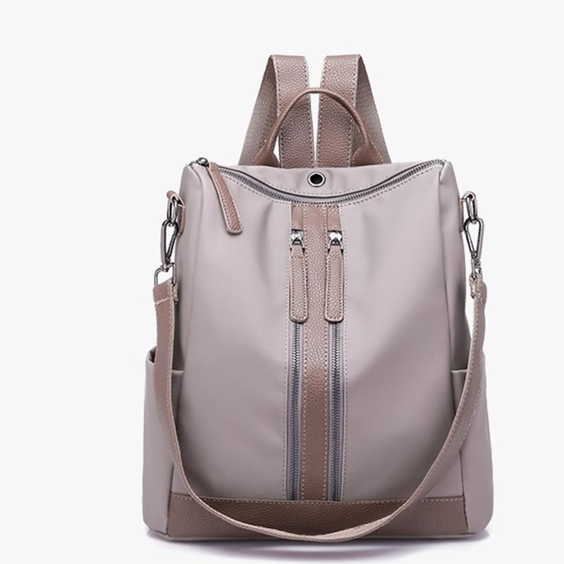 High quality atmosphere Women Backpack Teenage charm girls Waterproof Fabric Backpacks Simple and stylish Female