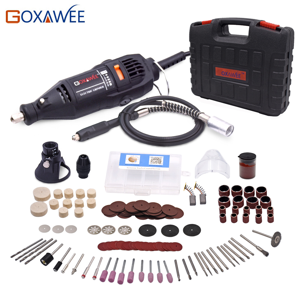 GOXAWEE 220 В Мощность Инструменты Электрический Мини дрель с 0,3-3,2 мм Univrersal Чак и Shiled вращающихся инструментов для dremel дрель 3000 4000