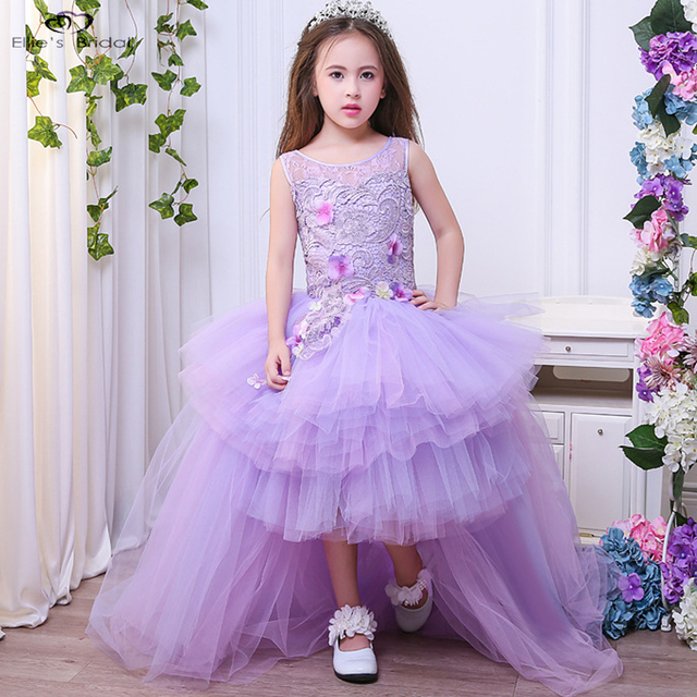 Ellies Bridal Light Purple Flower Girl Dresses For Weddings Elegant Ball Gown  Girls Princess Dress Kids 978083c61