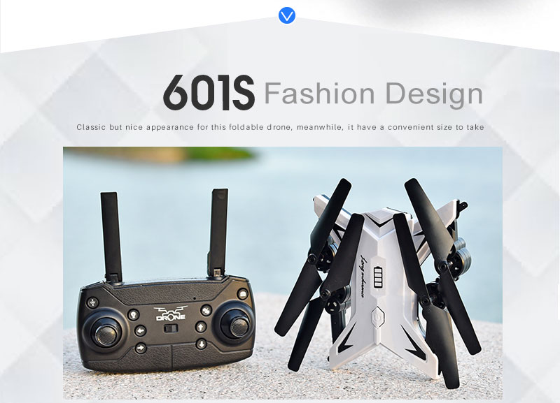 New RC Helicopter KY601S Drone with Camera HD 1080P WIFI FPV RC Drone Professional Foldable Quadcopter  Minutes Battery Life 11
