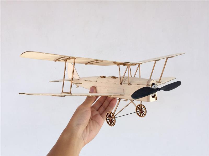 MinimumRC Tiger Moth Biplane 400mm Wingspan Balsa Wood Laser Cut RC Airplane KIT