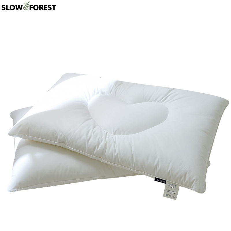 Slow Forest Cotton Bed Pillow Student Body Pillow Soft