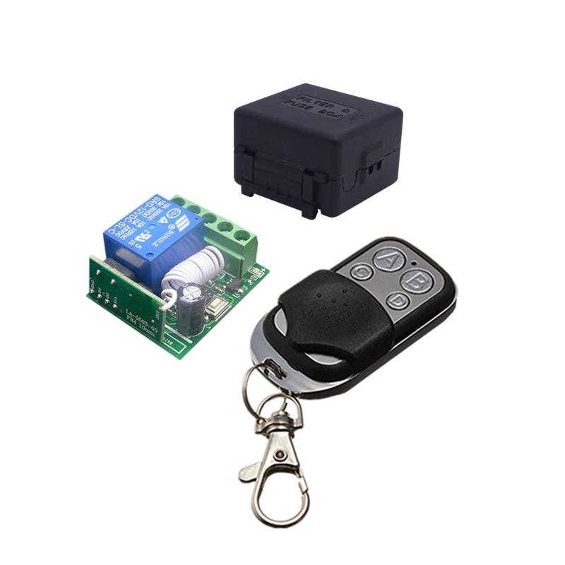433 Mhz Interruptor de Controle Remoto DC 12 V 10A 1CH Sem Fio Universal relé Módulo Receptor e Transmissor RF 433 Mhz Controles remotos