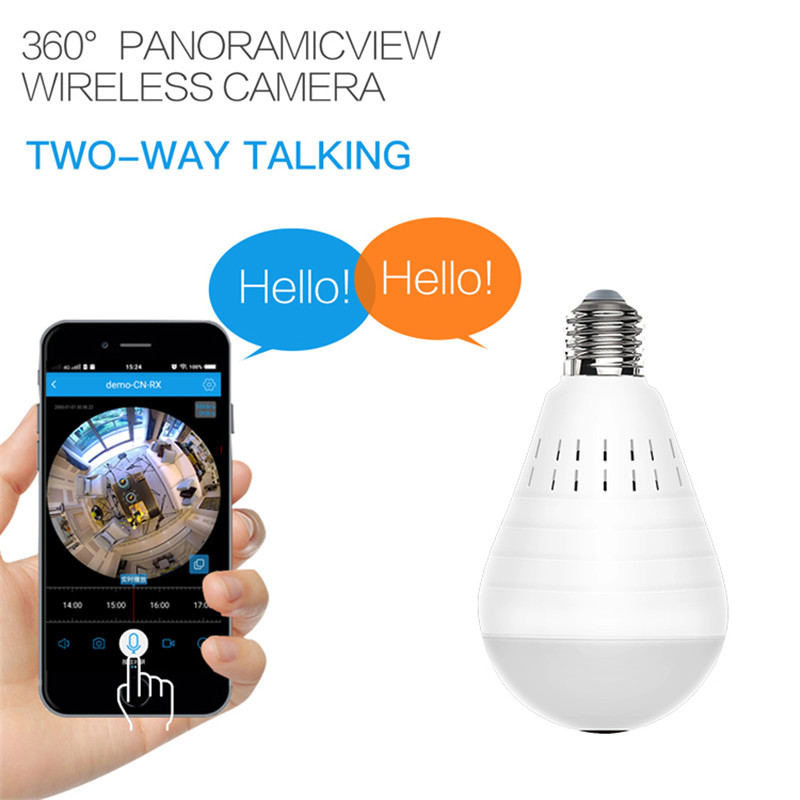 Image 5 - Home Surveillance Camera IP Camera 1080P LED Ligh Wireless Panoramic Fisheye Bulb Lamp WIFI Camera 360 Degree WiFi CCTV cam-in Surveillance Cameras from Security & Protection