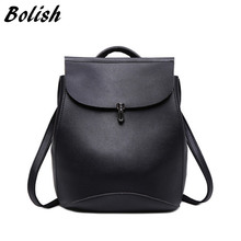 Bolish бренд высокое качество Искусственная кожа женщины рюкзак старинные рюкзак для девочек-подростков повседневные сумки Женский дорожная сумка