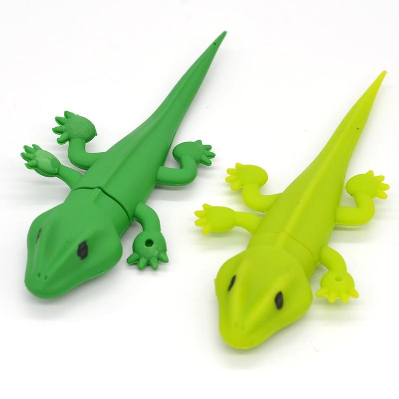Animal USB flash Disk 2.0 flash drive memory card stick disk pendrive gift Pen drive Green Gecko Lizard 4GB 8GB 16GB 32GB 64GB