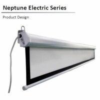 N12HB 16:9 HDTV  80 92 100 110 120 135 polegada Netuno 2 série Elétrica tela de projeção Motorizada elétrica com branco fosco B