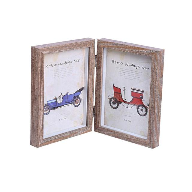 5x7 Inch Fashion Simple Wooden Picture Frame Double Rectangle Photo ...