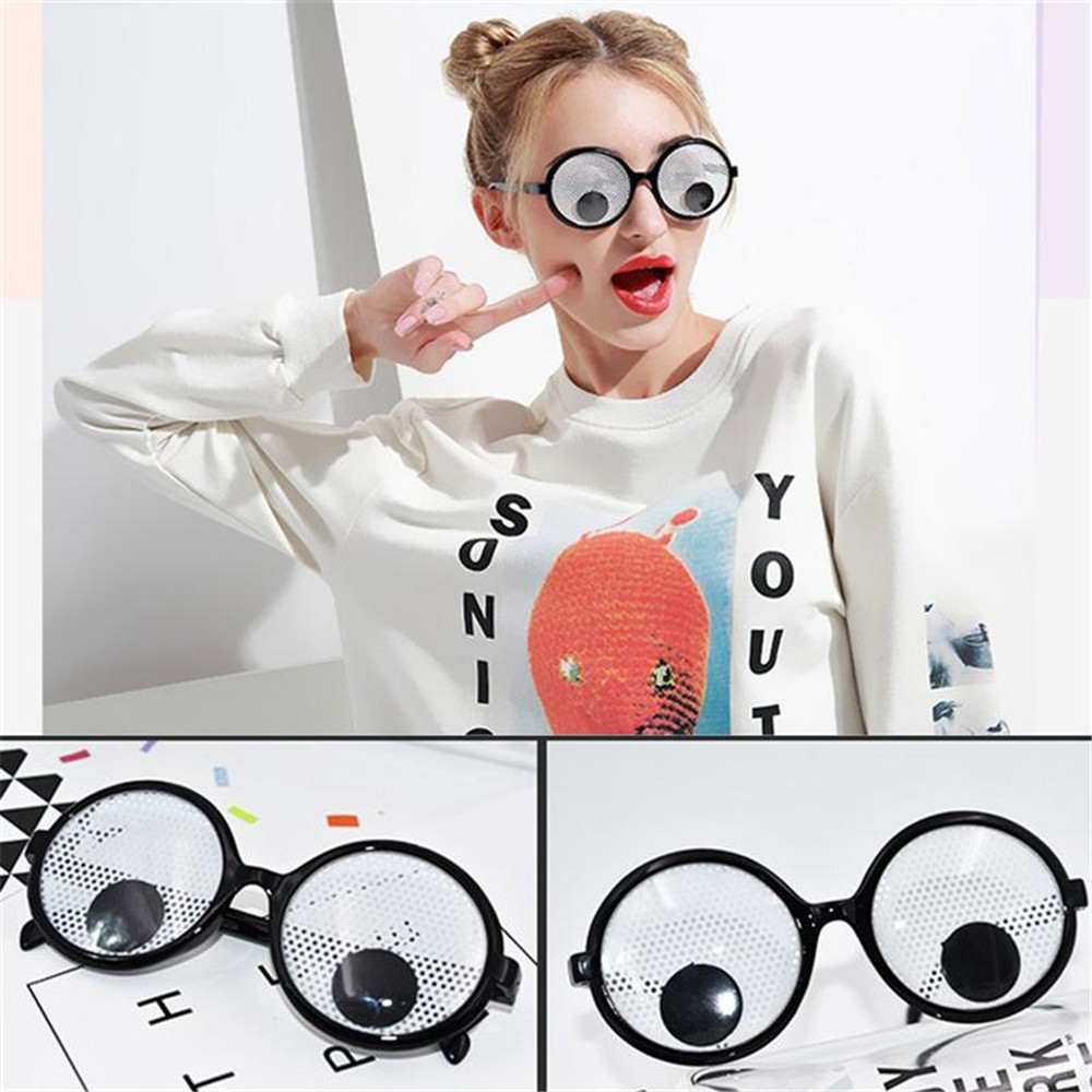 ddcccf83e50 Eyeball Glasses Rectangle Flat Glasses Halloween Party Glasses ...