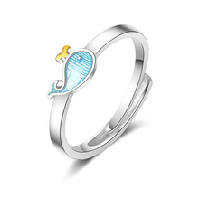 100% 925 sterling silver 2019 new arrival cute dolphin fish women birthday gift ladies`finger rings jewelry no fade ring girl цена в Москве и Питере