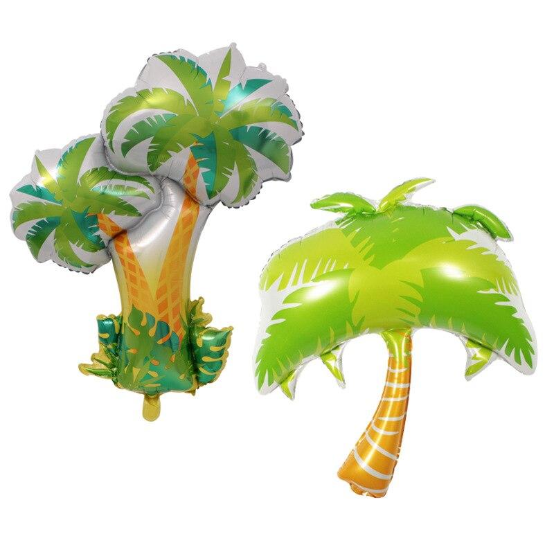 New 100 86cm Large Giant Green Palm Tree Balloon Helium For Golden Hawaiian Beach Birthday Party