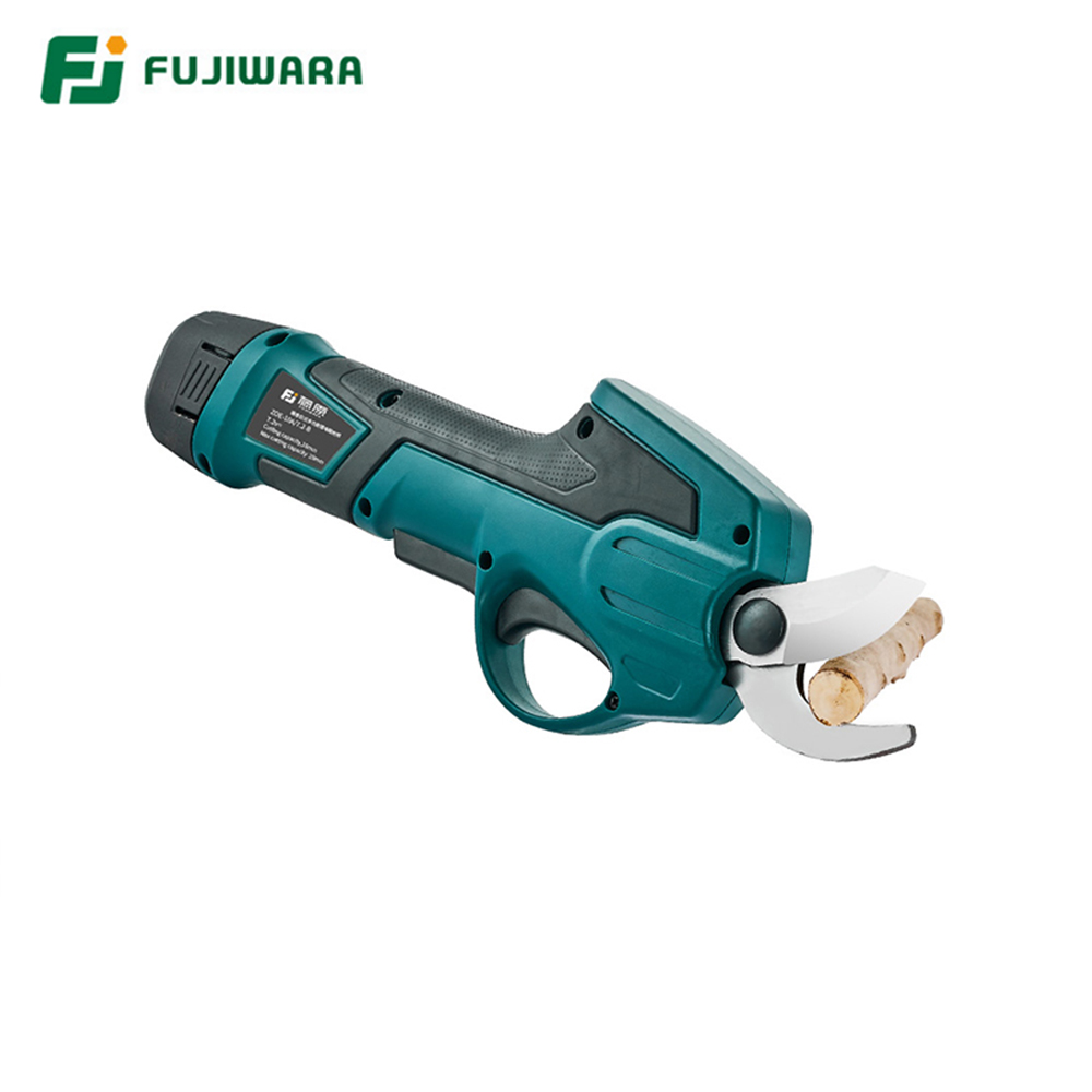 FUJIWARA 0-25mm Electric Garden Scissors for Pruning Stems and Branches with 7.2V Lithium Battery 1