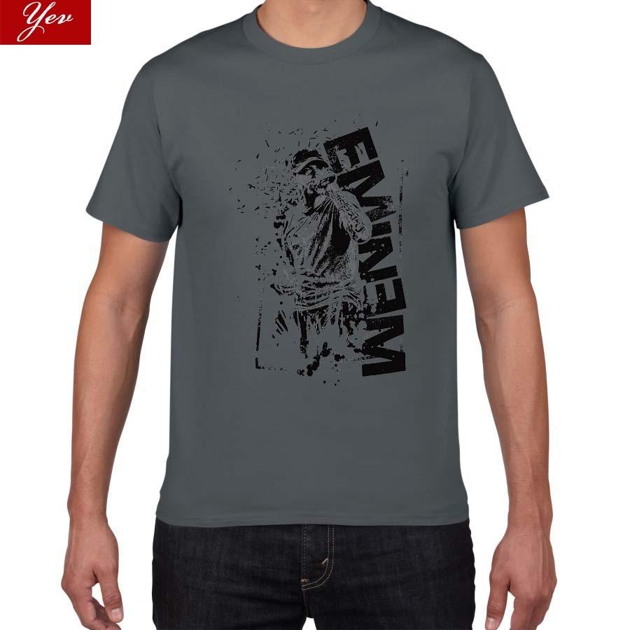 2019 New Rock Wear Cotton Eminem T Shirt Men Bad Meets Evil Rap Rock T-Shirt Men Street Wear Pok Tops Tee Camisetas Masculina