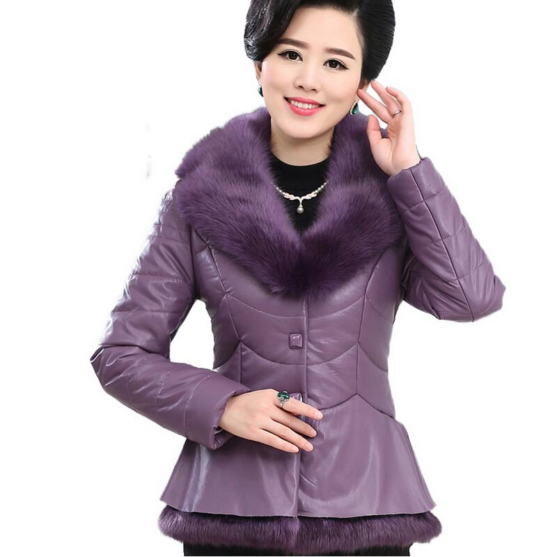 2016 Latest Winter Fashion Women Parkas High quality Artificial fur Short Coat Casual Slim Big yards Cotton-padded jacket NZ325