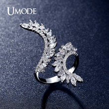 UMODE Fashion Jewelry Womens Accessories Party Ring 2016 New Marquise Cut Cubic Zirconia  Finger Rings Anelli AUR0301