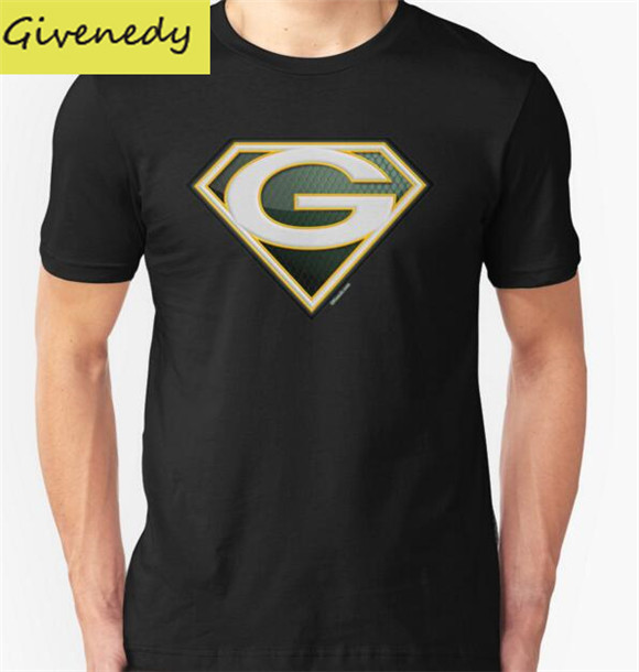Free shipping super packers of green bay printed men 39 s t for South bay t shirt printing