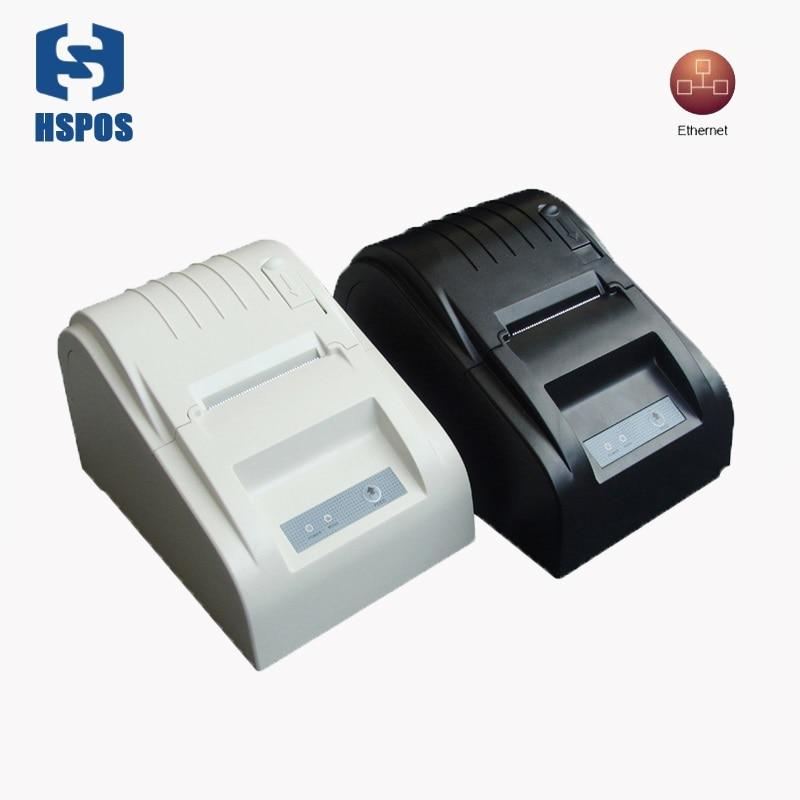 RJ45 pos thermal receipt printer 58mm 589TL lan port bill printing machine for supermarket quality slip printer hot sale