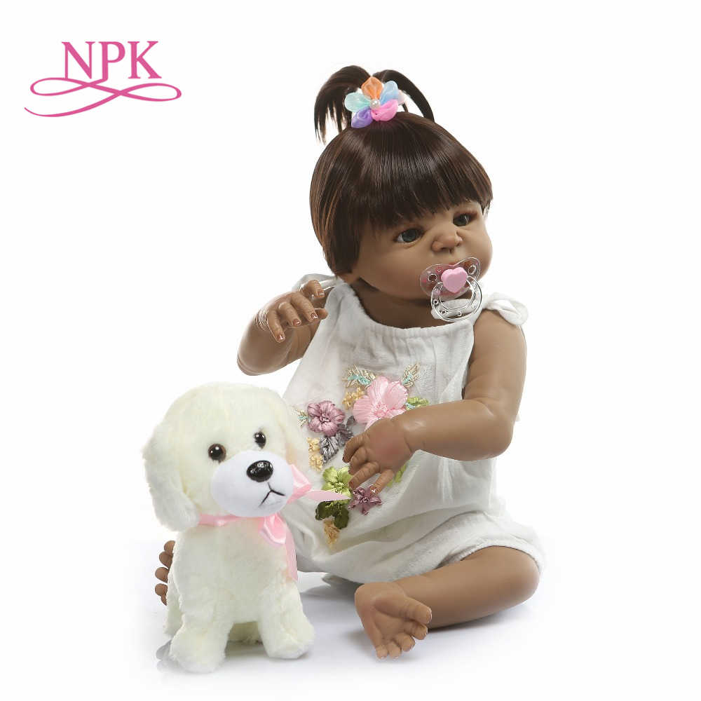 NPK 22 Inch 56cm Reborn Dolls Baby Girl Full Body Silicone Vinyl Realistic Princess Babies Dolls Kids Playmates Gift Toys