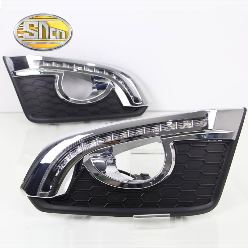 SNCN LED Daytime Running Light For Chevrolet Captiva 2014 2015 2016,Car Accessories Waterproof ABS 12V DRL Fog Lamp Decoration sncn led daytime running light for ford f 150 svt raptor 2010 2014 car accessories waterproof abs 12v drl fog lamp decoration