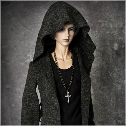 bjd accessories Original AS 1/3 bjd 70cm male cool hoodie hooded suit black vampire top quality as clothing doll costume cosplay american vampire vol 3