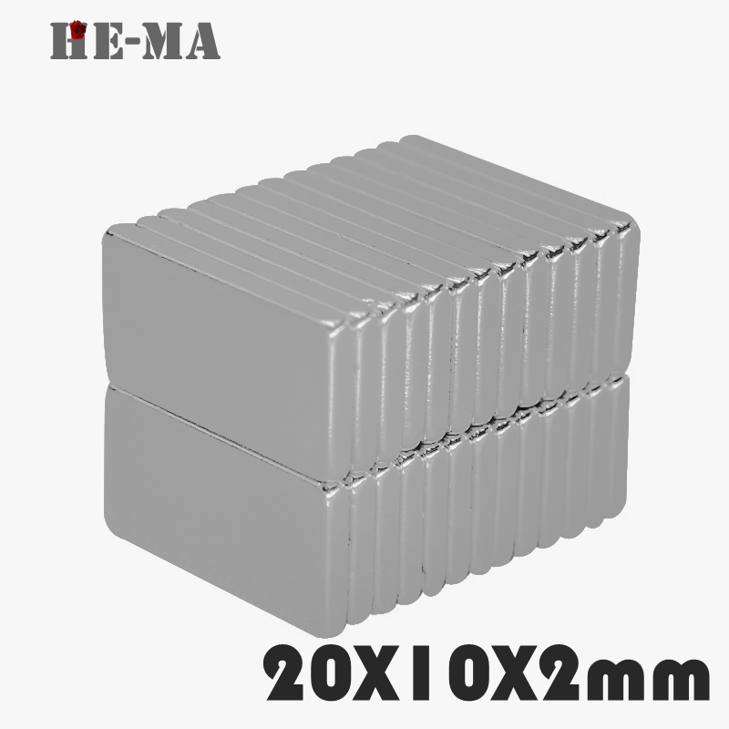 Powerful  Magnetic Magnets 30Pcs 20x10x2 aimants magnetiques puissant Neodymium Magnet Permanent N35 NdFeB Disc 20mmx10mmx2mm