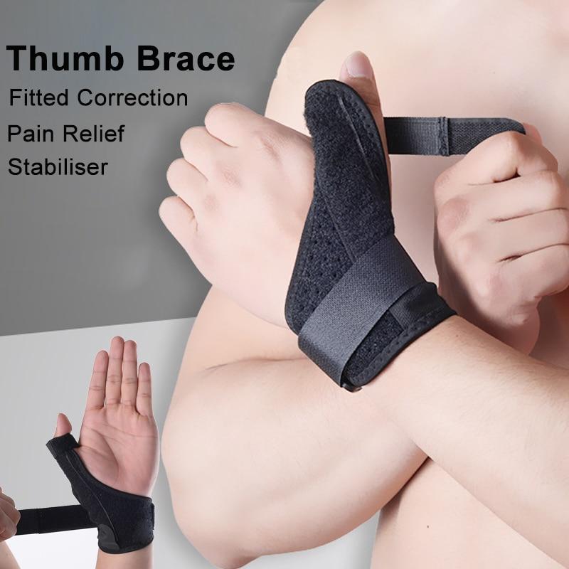 1pcs Elastic Thumb Wrap Brace Hand Vola Wrist  Splint Support Arthritis Pain Sport Training Fixed Correction Sheath Wristband