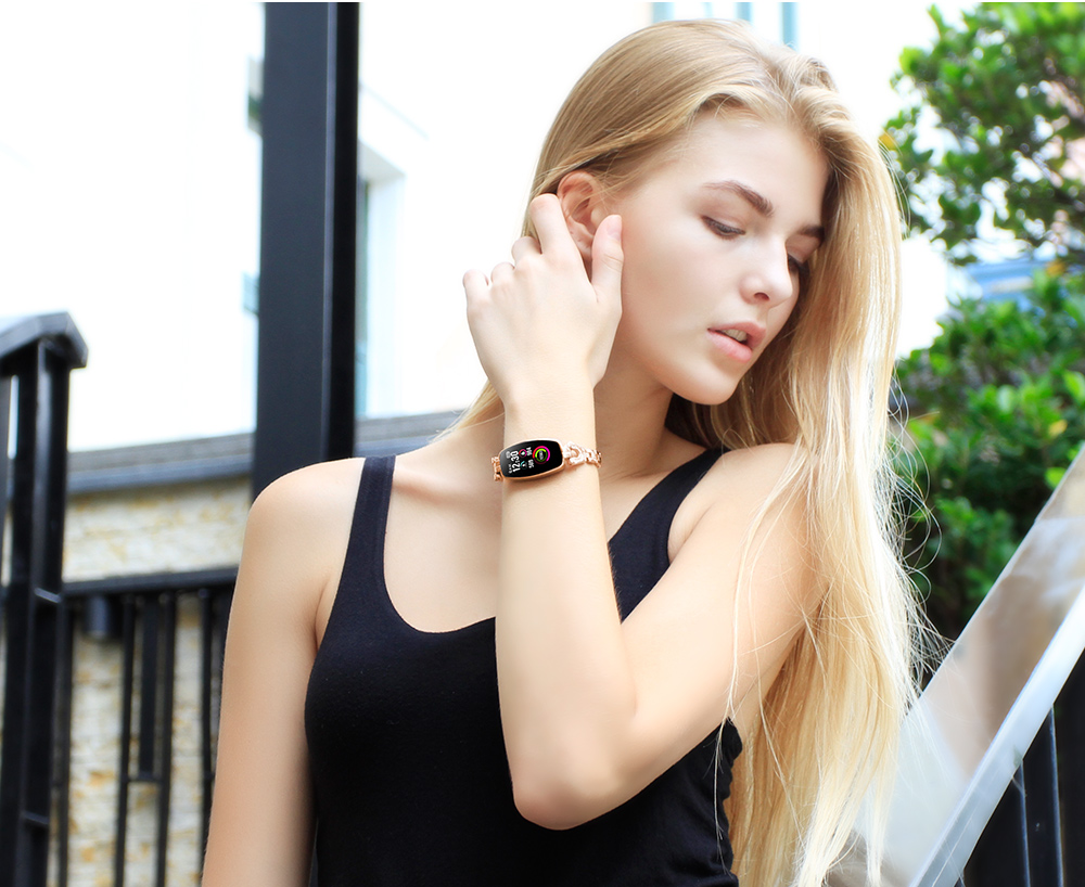 CYUC H8 women smart wristband fitness tracker bracelet Heart Rate Monitor blood pressure oxygen smart band best gift for Lady 12