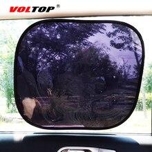 2 個自動カーテンサイドウィンドウ日よけ UV 保護車のサンバイザー Windowshield 黒シールド日焼けサイドリアカバーメッシュキャップ