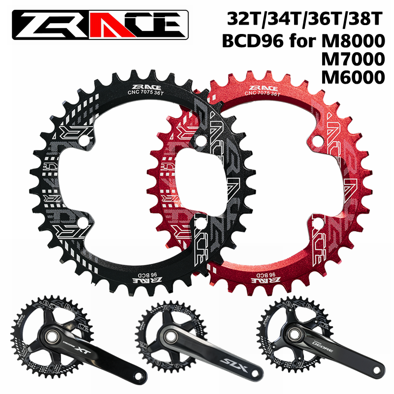 ZRACE <font><b>Chainring</b></font> Chainwheel BCD96 for M8000 <font><b>M7000</b></font> M6000,32T 34T 36T 38T AL7075 CNC process, Vickers-hardness 15+ for MTB bicycle image