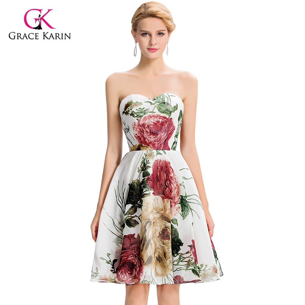 Cheap short bridesmaid dresses under 50 grace karin floral print cheap short bridesmaid dresses under 50 grace karin floral print bridesmaid dress 2018 wedding party dress prom dresses gk32 in bridesmaid dresses from ombrellifo Choice Image